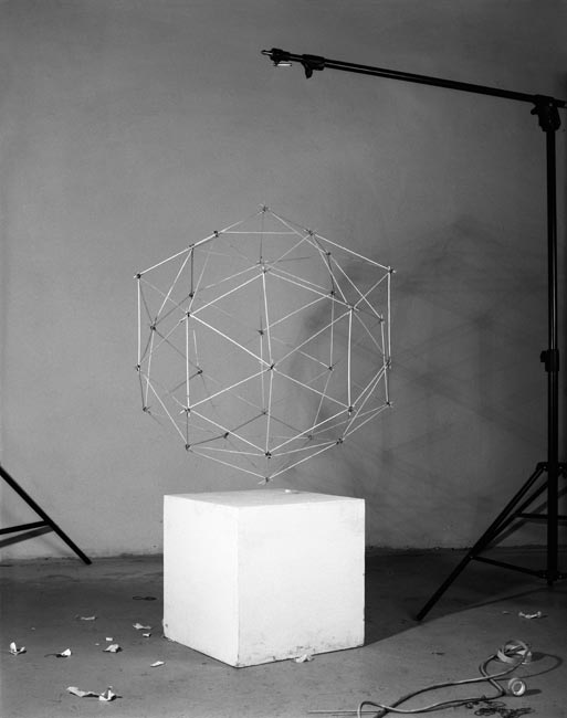 A dual polyhedron with cube, 2011, Budapest