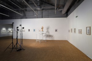 Installation views of Peter Puklus 's exhibition at the Leopold Bloom Art Award Finalists' Exhibition at the New Budapest Gallery, 5 September – 15 November 2015 © Photo: Juhász Tamás; 2015