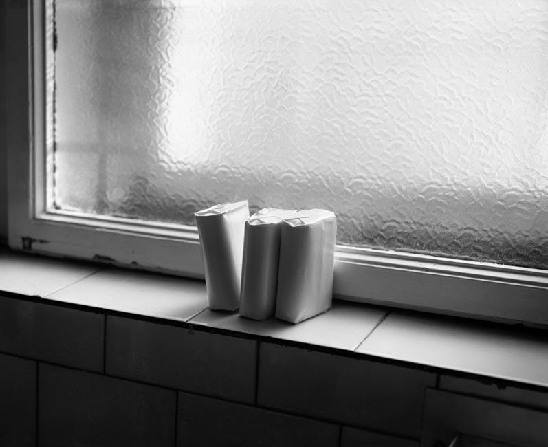 Three soaps on a windowsill, 2009, Budapest