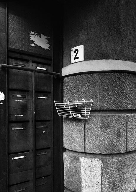 Building entrance, 2009, Budapest